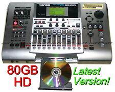 BOSS BR-1200CD Digital Multitrack Recorder, 80GB, Latest Version, CDRW & DRUMS