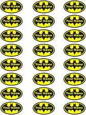 24 Batman Logo Personalised Edible Rice Wafer Paper Cupcake Toppers Birthday