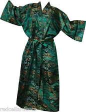 New Emerald Green Toile Robe Woman Housecoat Bathrobe Pool Cover Up Stunning