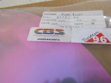 """Dichroic Glass:CBS 96 COE - Green/Magenta on Thin Flat Clear- 3""""Sq"""