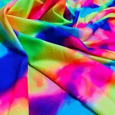 3 yd Nylon Lycra Spandex Fabric Neon  Print 4 Way Stretch By Yard