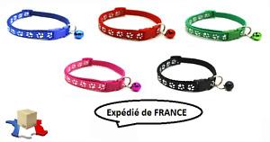 Collier Réglable Chien Chat Chiot Clip Sangle Animaux Multicolore