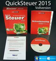 Lexware QuickSteuer 2015 Vollversion (21.0) Box, CD Handbuch Steuerjahr 2014 NEU