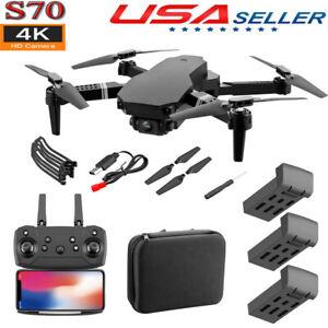 Drone X Pro Wifi FPV 4K HD Dual Camera 3 Batteries Foldable Selfie RC Quadcopter