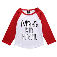 1-6Y Kids Baby Boys Girls Minnie Mickey Casual T-shirt Top Blouse Clothes Outfit