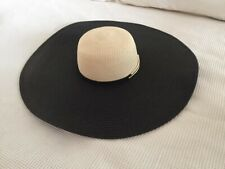 Women's Country Road Navy And Nude floppy wide brim beach hat