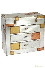 Industrial Aluminium & Copper Style 3 Drawer Trunk Chest W60 X D36 X H80cm