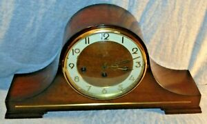 Vintage German Humpback Mantel Clock Franz Hermle 2 Jewel 340-020
