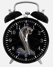"Cobra Mustang GT Alarm Desk Clock 3.75"" Home or Office Decor W195 Nice For Gift"