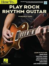 How To Play Rock Rhythm Guitar LEARN TO PLAY Lesson MUSIC BOOK & Online Video