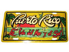 """Puerto Rico La Isla Del Mar Y El Sol 6""""x12"""" Aluminum License Plate Tag"""