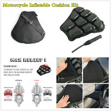 Universal 32X32cm Motorcycle Airbag Inflatable Cushion+Black 3D Mesh Cover+Pump