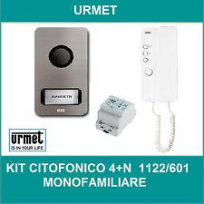 KIT CITOFONO MONOFAMILIARE  URMET 1122/601 4+N FILI MIKRA + CITOFONO MIRO'