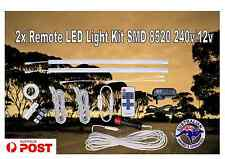 LED RF remote light kit 2x 50cm 8520 12v  240v Camping Caravan jayco Offroad 4X4