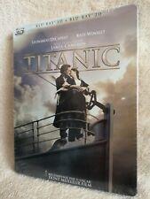 Titanic STEELBOOK [Blu-ray: región libre, 3D/2D, Conjunto de 4 discos! 6 horas Bonus!] Nuevo!