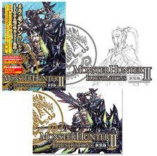 EMS/DHL Monster Hunter Illustrations Vol. 2 II, Art Books + BOX Set Capcom Japan
