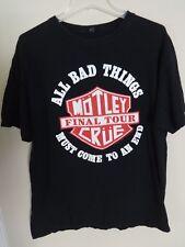 Vintage Motley Crue 2015 Final Tour 2 Sided Graphic Printed T-Shirt Men Large