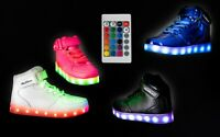 LED Light Up Shoes Sneaker Flashing for Girls Boys Kids and Youth Remote NIB 003