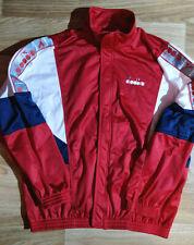 Diadora 90's Vintage Sweatshirt Track Jacket Orestad Support Danmark Red Hype