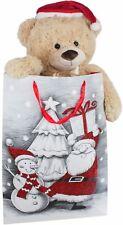 BRUBAKER XXL Ours en Peluche 100 cm avec Casquette Noël dans Sac Cadeau