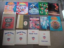14 Lot Figure Skating Ice Follies Programs Brochures 1943 to 1994 + Big Poster