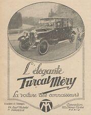 Z9731 Voiture TURCAT MERY -  Pubblicità d'epoca - 1920 Old advertising