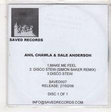 (HB879) Anil Chawla & Dale Anderson, Make Me Feel - 2006 DJ CD