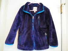 Cat & Jack Blue Light Fuzzy Faux Fur Coat Unisex Boy Girl XS 4/5 EUC