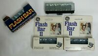 2 GE and 1 Sylvania Flashbars 30 flashes for SX-70 Camera + 6 GE Flash on Bar