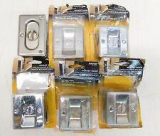Lot of 6 Prime-Line Polished Chrome Various Pocket Door Privacy Locks & Pulls