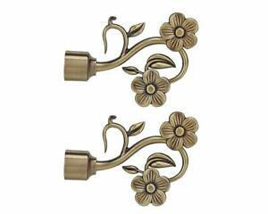 Brass Curtain Brackets Curtain Holder Set for Window and Door pack of 2 (CB-324)