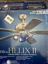 New Harbor Breeze Chrome HELIX II Ceiling Fan Replacement Parts