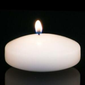 """3"""" Floating Candle. Choice of White, Ivory or Pink. Set of 4 Candles-Unscented"""