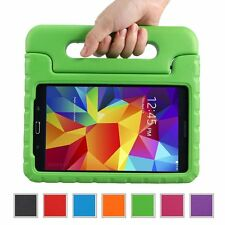 "Kids Safe Carry Heavy Duty Shockproof Rubber Case Cover Stand for Samsung Tablet Galaxy Tab a 7.0 Sm-t280 T285 7"" Device Green"