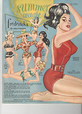 VINTAGE SUMMER 1963 FREDERICK'S OF HOLLYWOOD CATALOG! SWIMSUITS/SEXY OUTFITS +++
