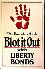 THE HUN - BLOT IT OUT -  WW 1 = A CLASSIC!  - LARGE ORIGINAL COLLECTABLE SCARCE