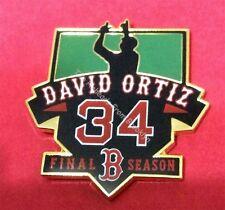 BOSTON RED SOX DAVID ORTIZ 'BIG PAPI' FAREWELL SEASON COLLECTOR PIN