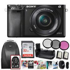 Sony Alpha a6000 Mirrorless Camera w/16-50mm & 128Gb Bundle (Black)