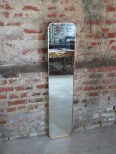 Glace / miroir rectangulaire en métal doré 140x30 cm