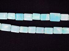 Blue opal rectangle beads. Blue gemstone beads. DIY loose beads