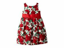 Janie and Jack Floral Jacquard Dress Red Rose Christmas Floral With Tags!!! SZ 6