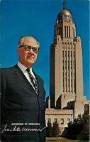 Golden CO~Manhattan KS HS~Frank Morrisson Governor of Nebraska, Capitol~Postcard