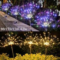90-150 LED Solar Firework Lights Waterproof Outdoor Path Lawn Garden Decor Lamp