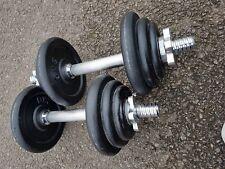 Cast Iron Dumbbell weight set 7KG on each bar