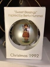 Vintage 1992 Schmid Berta Hummel Sweet Blessings Christmas Ornament W Box