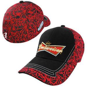 Kevin Harvick # 4 Nascar Budweiser Lightning Flex Hat Black/Red OSFM Free Ship