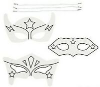 Pack of 12 - Colour Your Own Superhero Masks