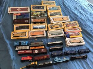 Vintage Lot (35) HO Scale NIB & Used Train Cars Rolling Stock - *No Reserve*
