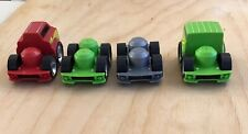 4 Mega Bloks First Builders Cars Vehicle Bases with Two Tops