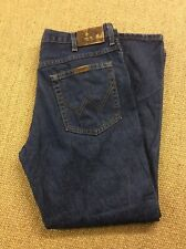 Mens WRANGLER W36 L30 Regular Blue Denim Jeans Superb